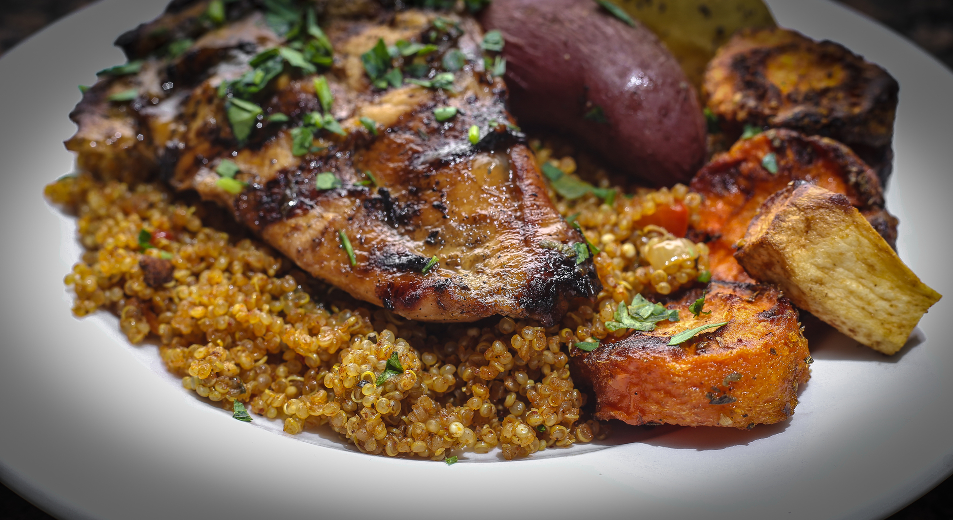 Grilled Chicken Breast and Quinoa